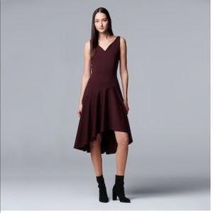 Simply Vera Vera Wang Asymmetrical Hem Ponte Dress